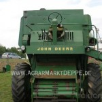 Combina John-Deere model 730 vedere din fata fara mecanism de secerare
