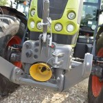 Tractor Claas Arion 640 Cebis vedere frontala cu proiectoare lumini