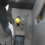 tractor Claas Celtis vedere din cabina de comanda cu detaliu maneta schimbare viteze