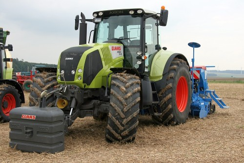 tractor claas axion 840 cmatic 240cp vedere frontala cupla gretutati