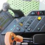 Combina Agricola Claas Lexion 440 detaliu panou de comenzi